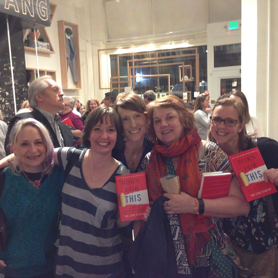 Some of my entrepreneurial pals with me at the book launch party!