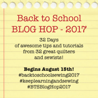 2017 Back to School Blog Hop for Sewists is coming next week!